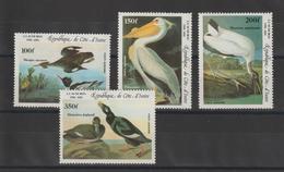 Cote D'Ivoire 1985 Oiseaux Audubon PA 97-100 4 Val ** MNH - Côte D'Ivoire (1960-...)