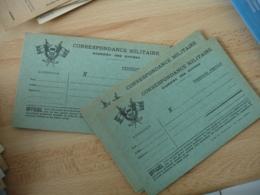Lot 4 Carte Franchise  Drapeau  Coin Gauche Couleur Verte  Franchise Postale Guerre 39.45 - Marcofilie (Brieven)