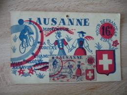 Cyclisme Tour De France 1948 18 Eme Etape Carte Postale Philatelique Lausanne - Wielrennen