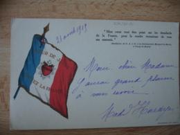 Guerre 14.18 Carte Franchise  Religion  Coeur De Jesus Sauvez La France - Oorlog 1914-18