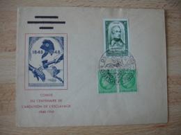 1948 Abolosition Esclave Obliteration Lettre Timbre Lamartine - Marcofilie (Brieven)