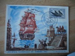 1957 Service Marine Navale Journee Timbre Cm Carte Maximum - Cartes-Maximum
