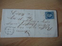 Spincourt Cachet Type 15  3461 Gros Chiffre  Lettre  Pour Nancy - Marcophilie (Lettres)