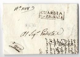 PERIODO NAPOLEONICO - DA URBINO PER CITTA' - 8.6.1812. - Italia