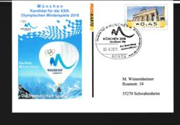 Germany Postal Stationary W/ATM Alike Print 2018 Olympic Games - München German Candidate - Used München 2011 - Winter 2018: Pyeongchang