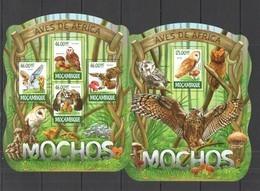 ST2320 !!! LAST 3 IN STOCK !!! 2015 MOZAMBIQUE MOCAMBIQUE FAUNA BIRDS OWLS MOCHOS KB+BL MNH - Uilen