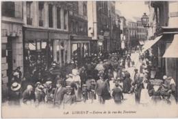 Bv - Cpa LORIENT - Entrée De La Rue Des Fontaines - Lorient