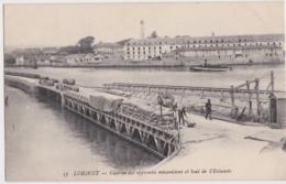 Bv - Cpa LORIENT - Caserne Des Apprentis Mécaniciens Et Bout De L'Estacade - Lorient