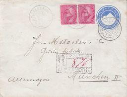 Egypte - Lettre Recom De 1899 - Entier Postal - Oblit Alexandrie - Exp Vers München - Egypt