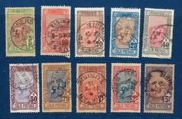 """Tunisie Colis Postaux YT 1 à 10 """" Courrier Postal """" 1906 Oblitéré - Tunisia (1888-1955)"""