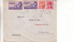 Egypte - Lettre De 1952 - Oblit Cairo - Exp Vers Ninove - Avions - Egypt