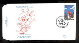 FDC - Chlorophylle - B.D. -  Timbre N° 2663 - Tampon Bruxelles - FDC