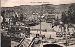 CPA - BILBAO - MUELLES DEL ARENAL (Tramway) ... - Vizcaya (Bilbao)