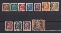Bayern - 1911 - Michel Nr. 76/86 II - Gest. - 43 Euro - Bayern