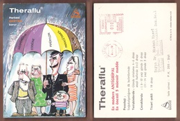 AC -  THERAFLUSANDOZ MEDICINE ADVERTISING POST CARD 24 NOVEMBER 1970 - Werbung