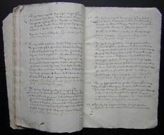 1620 Crépy  En Valois Manuscrit De 54 Pages, Désignation Des Terres De Mr  Charmoluë Au Terroir De Mermont (Oise) - Manuscrits