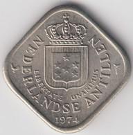 @Y@    Nederlandse Antillen   5  Cent  1974 ( 4642 ) - Antilles Neérlandaises