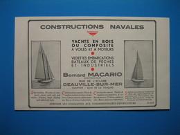 (1936) Constructions Navales BERNARD MACARIO - Rue De L'Écluse à Deauville-sur-Mer - Chantier : Quai De La Touques - Advertising