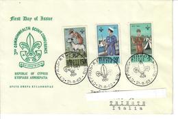 CIPRO 1963 - 3 Rd COMMONWEALTH SCOUT CONFERENCE - FDC - VIAGGIATA DA CIPRO A TRIESTE/ITALIA - Cipro (Repubblica)