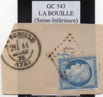 Seine-Maritime - N° 60C Obl GC 543 La Bouille - 1871-1875 Cérès