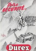 - CARTE PUBLICITAIRE Moyeu DUREX Pour Cycles Et Cyclomoteurs - 166 - Cyclisme