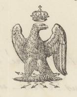 Héraldique Belfort 1846  Administration Générale Des Eaux Et Forêts - Documents Historiques