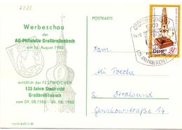 POSTKARTE  PHILATELIE GROBREITENBACH 1980 (GENN201448) - Esposizioni Filateliche