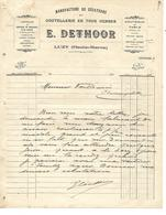 Facture 192? /  52 LUZY / E. DETHOOR / Manufacture De Sécateurs, Coutellerie, Ciseaux - 1900 – 1949
