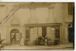 1866. CPA PHOTO A LOCALISER. COMMERCE TERRASSE  CAFE DU PHENIX 1916 - Geschäfte