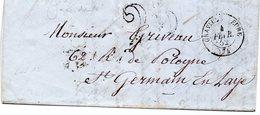 Seine-Maritime - LAC (fév 1852) Non Affr  - Càd Type 15 (accidenté) Graville   Eure - Marcophilie (Lettres)