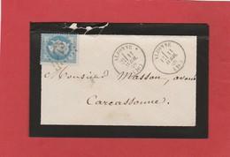 Aude - Alzonne - GC73 Sur N°29 - LSC 1869 - Marcophilie (Lettres)