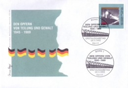 DEN OPFERN VON TEILUNG UND GEWALT 1995 FDC  (GENN201457) - Incidenti E Sicurezza Stradale