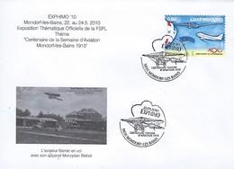Luxembourg  -  FDC  -  22.5.2010 - L'Aviateur Barrier En Vol Avec Son Appareil Monoplan Blériot - FDC