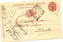 1902 LASCARI PALERMO SICILIA CERCHIO +amato Vincenzo Farmacista - Poststempel