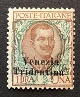 """Trentino-Alto Adige 1918 Sa. 27 = 260€ Mint * VF """"VENEZIA TRIDENTINA"""" (1914-18 War Italy Regno D' Italia Italie - Trente"""