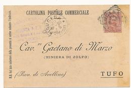 1899 LUCERA FOGGIA PUGLIA  TONDO RIQUADRATO + TIMBRO FARMACIA E DROGHERIA CARRESCIA - 1878-00 Humbert I
