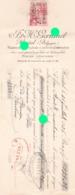 HERSTAL1936 VELOS AUTOS MOTOS GERKINET Pièces Détachées  Atelier De Construction Mécanique Nickelage Chromage - Lettres De Change