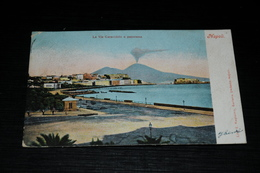 10031          NAPOLI, LA VIA CARACCIOLO E PANORAMA  - 1906 - Napoli (Naples)
