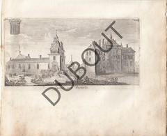 """Originele Kopergravure Kasteel Van WESTERLO 18de Eeuw """"Casteel Van Westerlo"""" (J188) - Documents Historiques"""