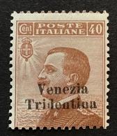 """Trentino-Alto Adige 1918 Sa. 24 = 450€ Mint * VF """"VENEZIA TRIDENTINA"""" (1914-18 War Italy Regno D' Italia Italie - Trente"""