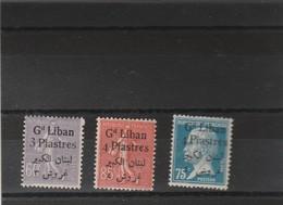 Liban Yvert 34 + 35 + 44 ** Sans Charnière  - 2 Scan - Grand Liban (1924-1945)