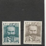 1962 MNH Mint Never Hinged Sc. 607-608, Yv. 567-568, Mi. 645-646                 151 - Albania