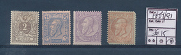 BELGIUM 1884/1891 ISSUES SMALL SELECTION 1F WITH LARGE FAULTS MINT HINGED - 1884-1891 Leopold II