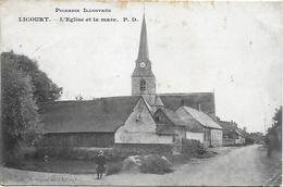 CPA ( 80 Somme) Licourt  L'église Et La Mare - France