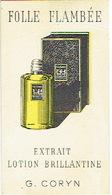 Carte Parfum - FOLLE FLAMBEE De G. CORYN - Cartes Parfumées