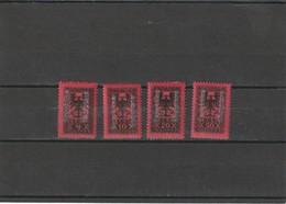 19225 MH Mint Hinged Sc.Due  J27-J30, Yv. Taxe 22-25, Mi. Porto 22-25                158 - Albania