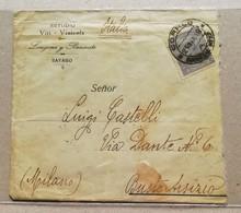 Busta Di Lettera Da Sayago Per Busto Arsizio (Italia) - 29/03/1919 - Uruguay