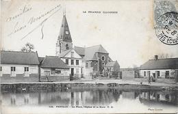 CPA ( 80 Somme) Pertain La Place L'église Et La Mare - France