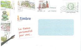ID Timbre Cécable Cérès 2020 Tirage Rare Ayant Voyégé Enveloppe A5 - Sellos Autoadhesivos