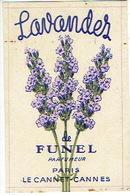 Carte Parfum - LAVANDES De FUNEL - Parfumeur PARIS - LE CANET - CANNES - Cartes Parfumées